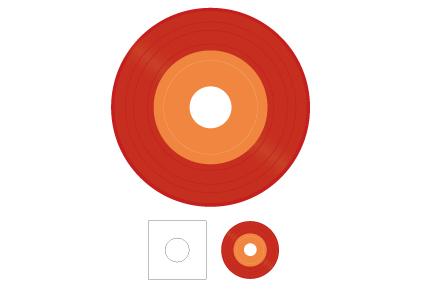 7inch レコード(カラー)